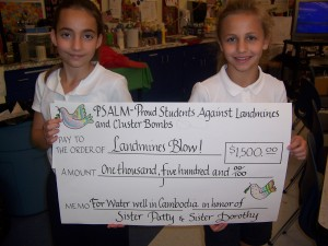 2009 PSALM School project: riasing funds for Landmines Blow! and water wells in Cambodia