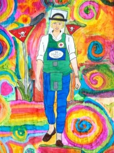 PRINCESS DIANA WALKS A MINEFIELD artwork by PSALM students